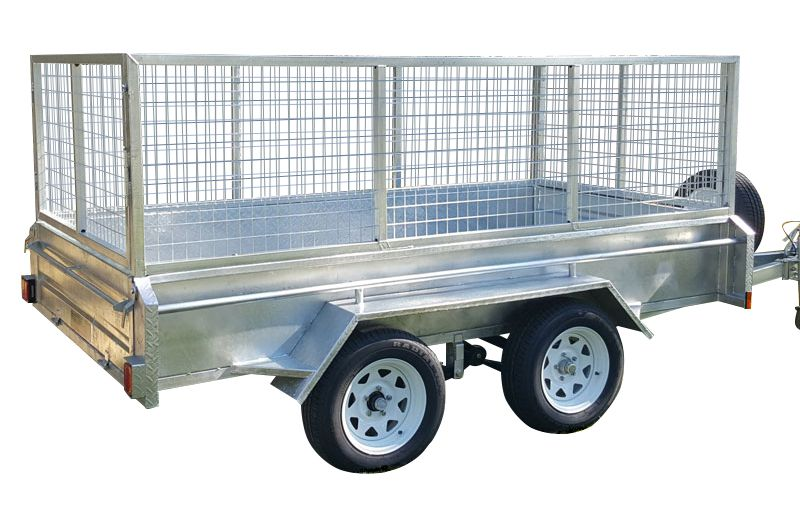 10ft x 5ft DUAL AXLE GALVANISED BOX TRAILER 400mm SIDES - 2000Kg Rated