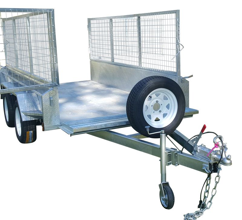 10ft x 6ft DUAL AXLE GALVANISED BOX TRAILER 400mm SIDES - 2000Kg Rated