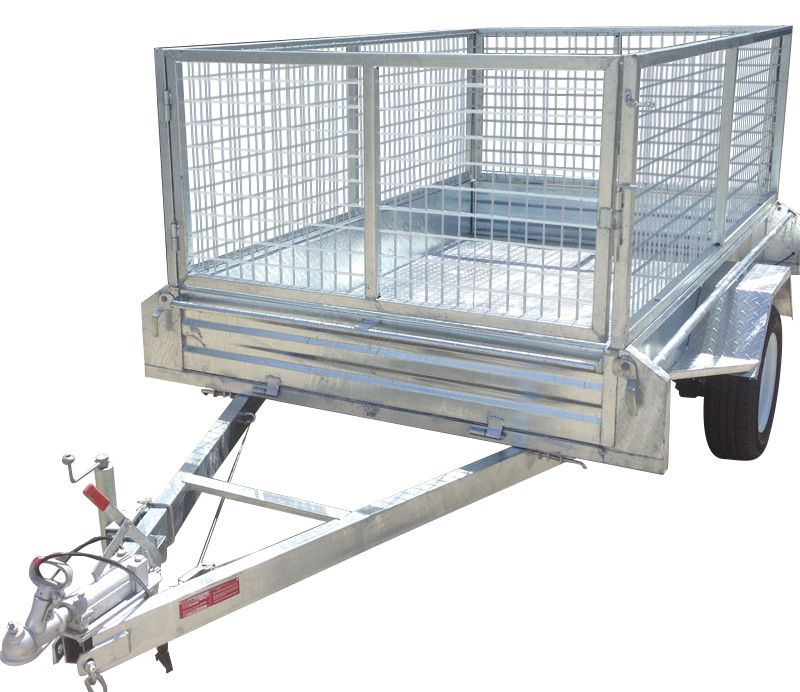 7ft x 5ft - GALVANISED BOX TRAILER 300mm SIDES  1500KG Rated