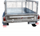 8ft x 5ft DUAL AXLE GALVANISED HYDRAULIC TIPPER TRAILER 600mm CAGE - 3000Kg Rated 3