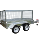 8ft x 5ft DUAL AXLE GALVANISED BOX TRAILER 300mm SIDES - 2000Kg Rated 4