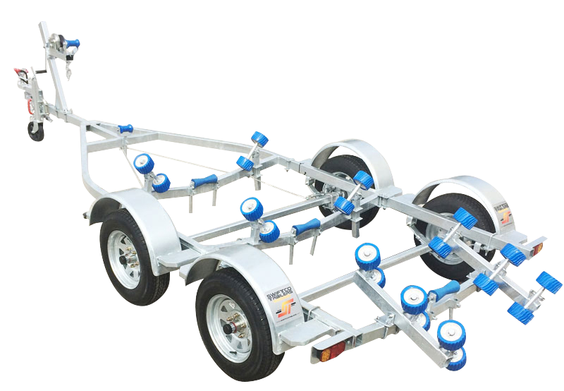Swiftco 5 Metre Dual Axle Boat Trailer Wobble Rollers