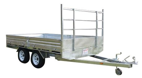 12ft x 7ft GALVANISED FLAT BED TRAILER 3000KG with 300mm SIDES