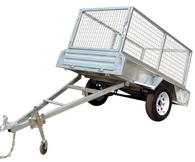 7ft x 5ft - TILT GALVANISED BOX TRAILER 300mm SIDES - 750KG Rated